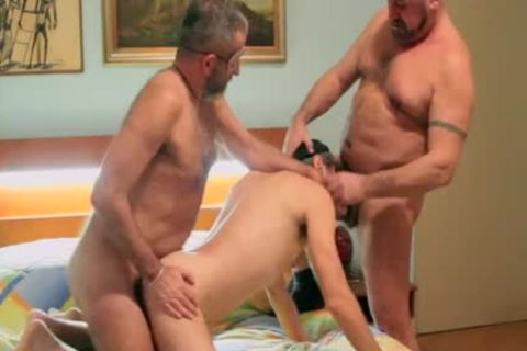 filthy & bare DP - Two hirsute Bears bareback A Bearded prostitute