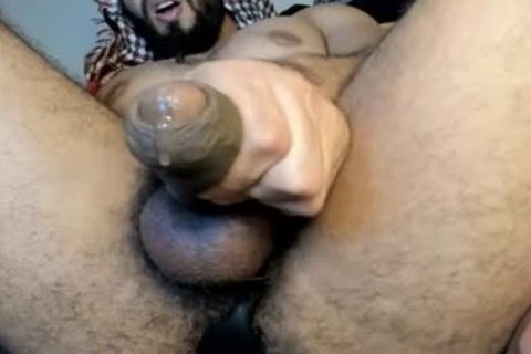 Arab dress Daddy Masturbated On web camera