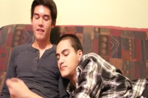 Hispanic teen And oriental teen oral stimulation-stimulation And sperm drinking