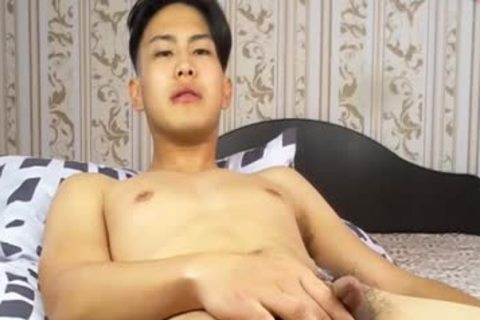 cute Korean lad Tugging petite cock And Shotting Loads Of sperm