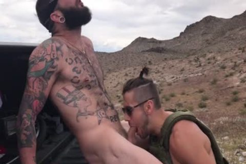 Dante Colle pounds Johnny Hill bare On Shooting Range