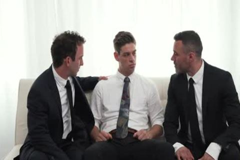MormonBoyz - Two Hung Religious dudes fuck A Missionary twink