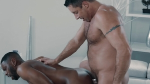 Noir Male - Real sex with Taye Scott in tandem with Nick Capra