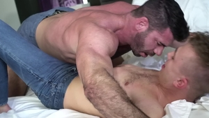 IconMale: Muscled Billy Santoro touches nice big dick