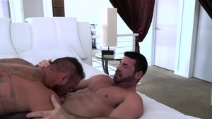 IconMale - Gay Billy Santoro escorted by Michael Roman anal