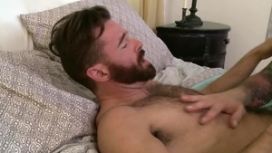 Icon Male - DILF Hugh Hunter enjoying big dick Brendan Patrick