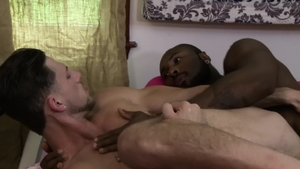 IconMale.com: Ebony Noah Donovan enjoying big penis Roman Todd