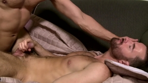 IconMale: Brendan Patrick plus Rodney Steele bends over