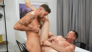 DrillMyHole - Archie orgasm on the table