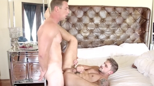 Next Door Buddies - Piercing Jackson Reed kissing each other