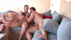 Next Door Raw: Mathias & Carter Woods raw masturbation