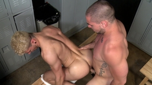 Extra Big Dicks: Gay Ian Greene getting a facial sex scene