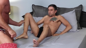 MenOver30: Couple Marc Danton jerking Killian Knox