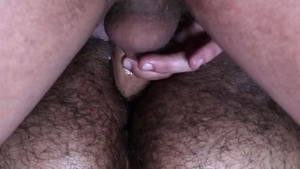 BearBack: Rikk York jerking Riley Mitchel big penis