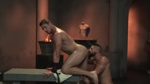 Raging Stallion - Tattooed Ace Era group sex rimming