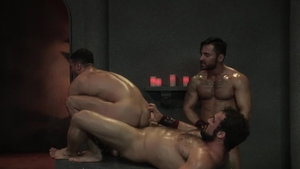 Raging Stallion - Bruno Bernal and Jaxton Wheeler cumshot