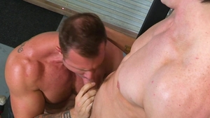 HotHouse - Tight Jack Hunter licks big dick in the gym