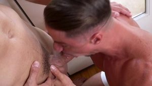 Falcon Studios: Joaquim Cruze tongue kissing sex scene