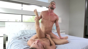 Falcon Studios - Amazing Ryan Rose electro jizzed in the bed