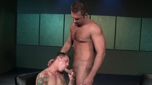RagingStallion.com - James Ryder giving head for balls
