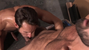 RagingStallion.com: Nailed rough escorted by inked Mark Sanz