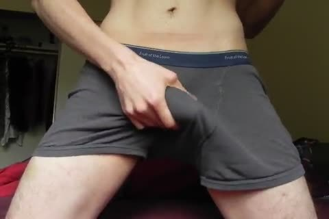 underclothing tease and soft precum milking