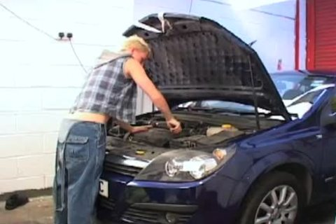 undressed pounding my mechanic for payment